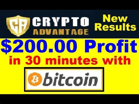Bitcoin live prices, price charts, news, insights, markets and more. Crypto Advantage Review - $200.00 Profit with Bitcoin! (Must WATCH) - YouTube