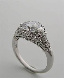 Purchase beautiful art deco antique style diamond accent for Vintage wedding ring settings