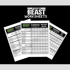Improved Body Beast Worksheets  Free Download!  Beachbody Worksheets And Schedules Body