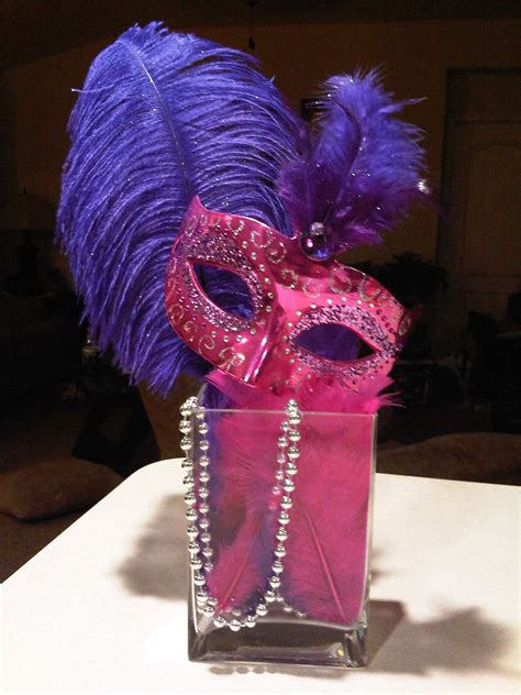 mask table decorations mask centerpiece centerpieces masquerade