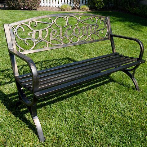 Elegance Welcome Design Outdoor Park Bench Backyard Yard