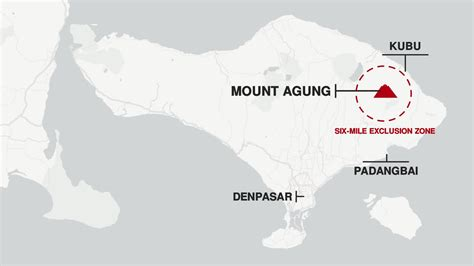 bali volcano mount agung exclusion zone