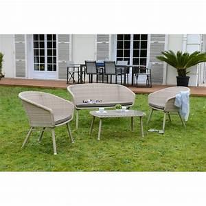 Salon Jardin Bas : salon de jardin bas 4 pi ces carioca r sine salon bas de jardin salon de jardin mobilier ~ Teatrodelosmanantiales.com Idées de Décoration