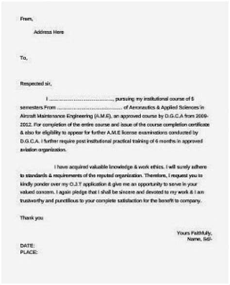 all about aviation ame ojt requesting cover letter sle