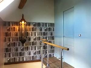 Decoration Murale Montee Escalier : d coration palier et mont e d 39 escalier clectique ~ Dailycaller-alerts.com Idées de Décoration