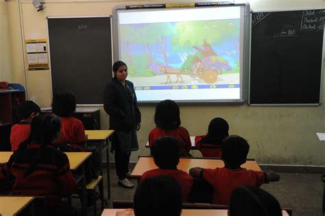 interactive classroom  indian schools scenario options