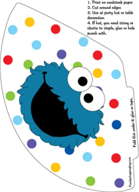 party hat  sesame street party hats  printable