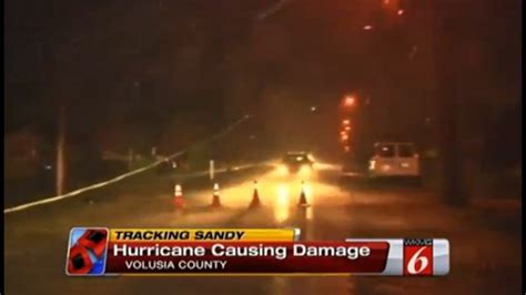 hurricane sandys strong winds  power outages