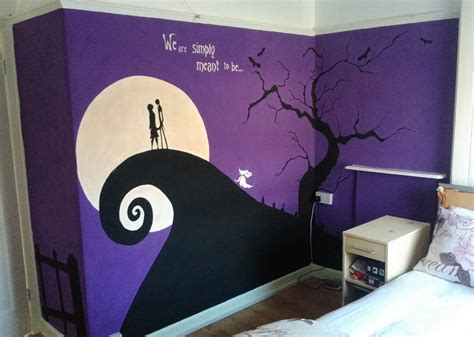 nightmare before christmas wall mural finished by anaseed on deviantart