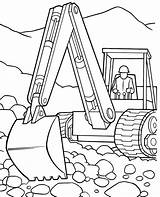 Coloring Pages Construction Backhoe Vehicles Deere John Tractor Excavator Printable Police Motorcycle Gator Drawing Trailer Template Clipart Sketch Getdrawings Library sketch template
