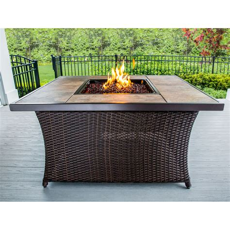 Enjoy free shipping on most stuff, even big stuff. Hanover 40,000 BTU Woven Fire Pit Coffee Table with ...
