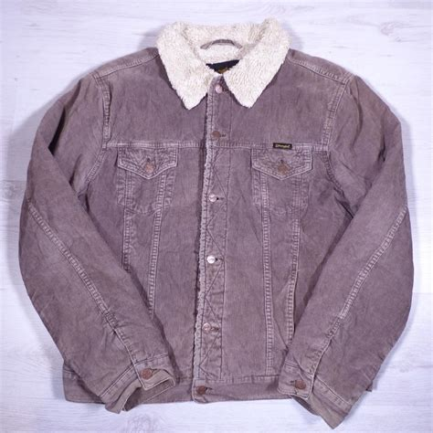 Jaket Wrangler Ori Preloved wrangler brown sherpa fleece lined cord corduroy jacket xl