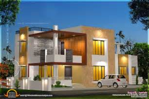 modern home plans floor plan and elevation of modern house home kerala plans