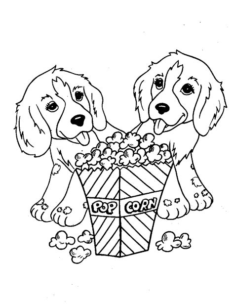 cute dog animal coloring pages books  print