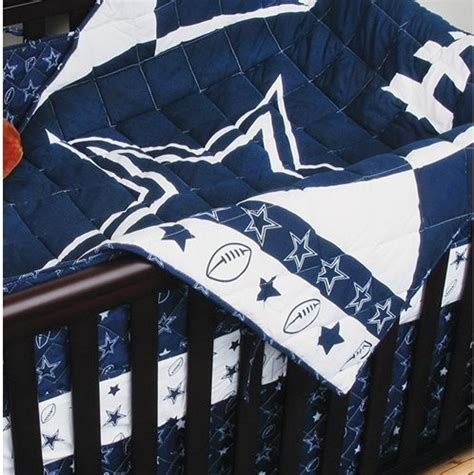 Dallas Cowboys Baby Room Decor by Nfl Dallas Cowboys 4 Football Crib Bedding Set
