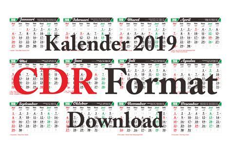 Download Template Kalender 2019 Cdr Arab, Jawa Dan Masehi