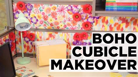 colorful boho cubicle makeover hgtv youtube