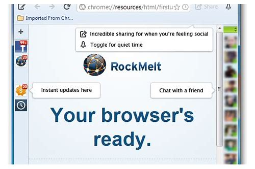 facebook browser rockmelt download