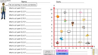 coordinates in the quadrant worksheet by krazikas