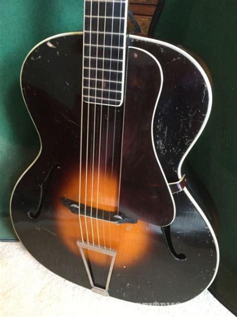 guitar archtop 1930s jazz case hard