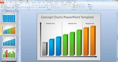 powerpoint graph free creative bar chart powerpoint template