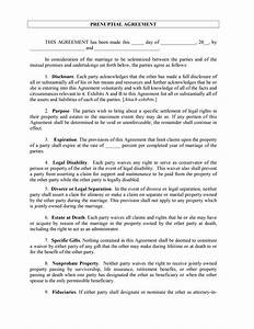 prenuptial agreement template With online prenuptial agreement template