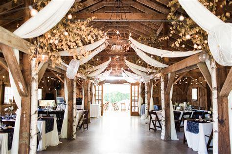 elegant romantic barn reception  longlook farm