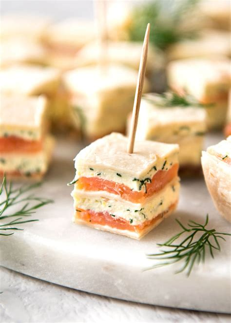 what does canape smoked salmon appetizer bites recipetin eats