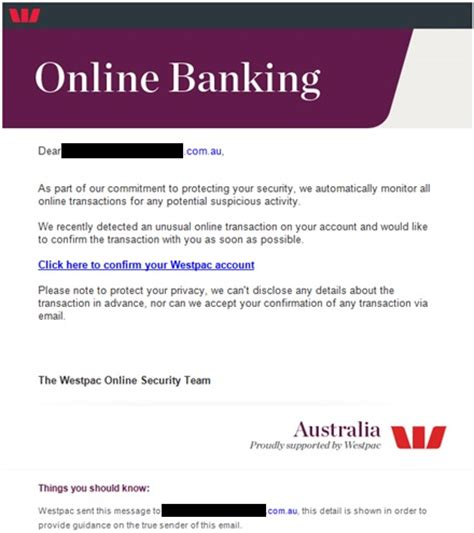 archive email scam alerts westpac
