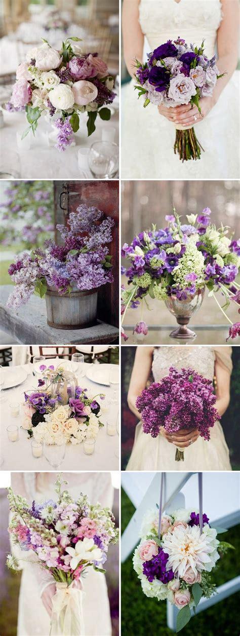 plum purple wedding color ideas wedding floral