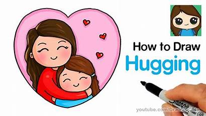 Mother Drawing Draw Easy Cartoon Mom Hugging