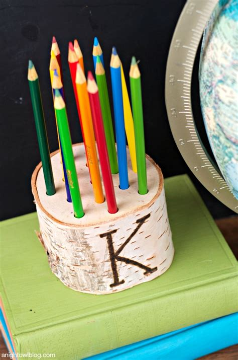 pencil holder diy teacher gift holders gifts christmas wood anightowlblog owl bottle