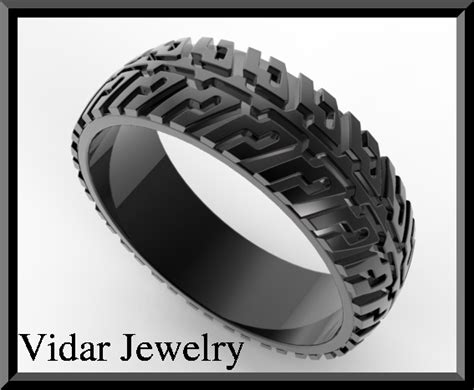 Unique Tire Tread Wedding Band For Him  Black Gold Rings. Month Wedding Rings. Hof Engagement Rings. Nature Themed Wedding Rings. Diamomd Wedding Rings. Emo Engagement Rings. Chrysoprase Rings. Friend Engagement Rings. Pear Shaped Rings