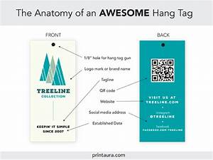 Anatomy Of An Awesome Clothing Hang Tag    Templates