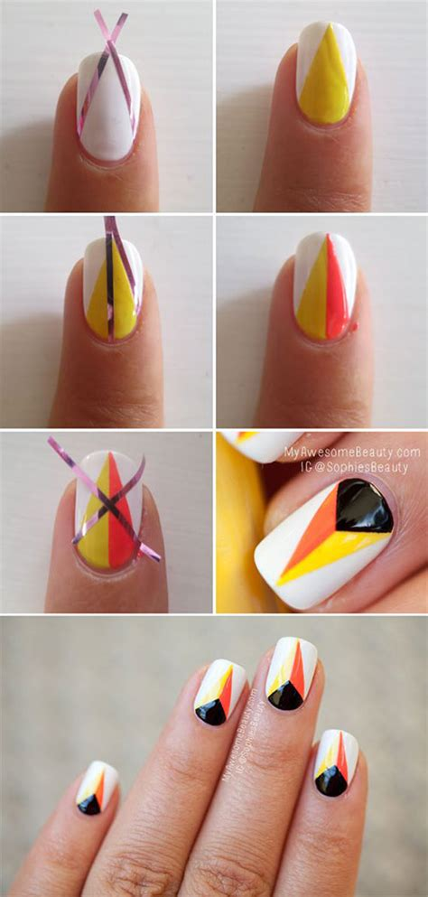 easy nail designs step by step 20 easy step by step nail tutorials for