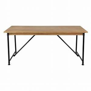 Table En Manguier : table de salle manger en manguier et m tal l 180 cm naturaliste maisons du monde ~ Teatrodelosmanantiales.com Idées de Décoration