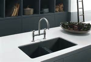 white kitchen sink faucet kohler k 5840 5u 0 anthem cast iron undercounter sink with five faucet drilling white