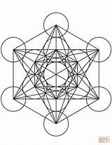 Cube Coloring Mandala Metatron Geometric Geometry Sacred Sorcery Printable Mandalas Symbols Designlooter Shapes Ipad Compatible Version Wikia Patterns Supercoloring Drukuj sketch template