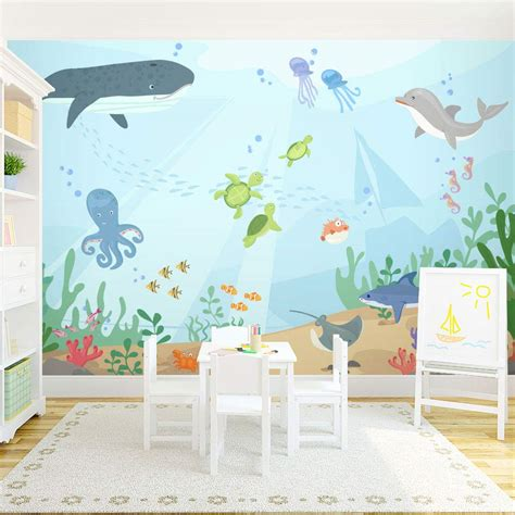 Under The Sea Wall Mural  Underwater Mural For Kids. Dsm Signs. Comorbid Signs. Mindy Project Murals. Vintage Pink Banners. Wedges Lettering. Inside Murals. Big Logo. Itchy Foot Signs Of Stroke