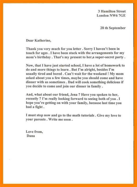 informal letter  pattern resume
