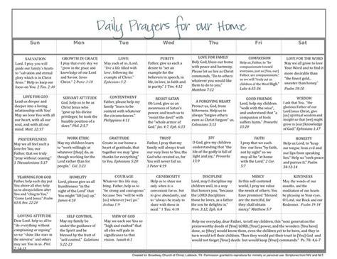 daily calendar pray scripture home