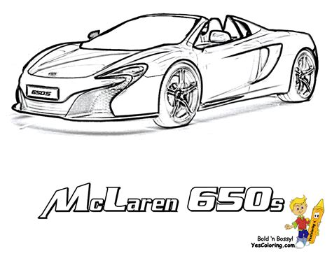 Images Of Mclaren Coloring Pages Summer