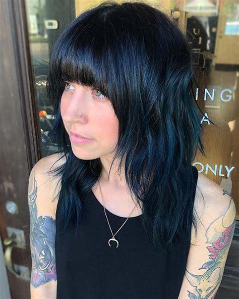 43 Beautiful Blue Black Hair Color Ideas To Copy Asap