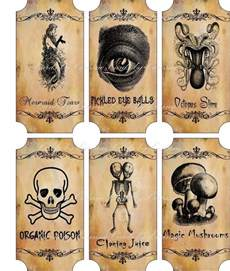 Halloween Apothecary Bottle Labels Stickers
