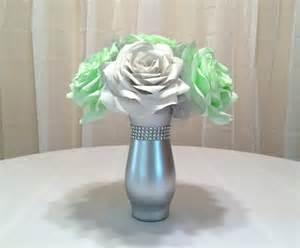 mint green wedding decorations mint green wedding centerpiece bridal table centerpiece reception decor bridal shower decor
