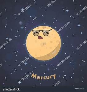 Cute Planet Mercury Stock Vector 354995156 : Shutterstock