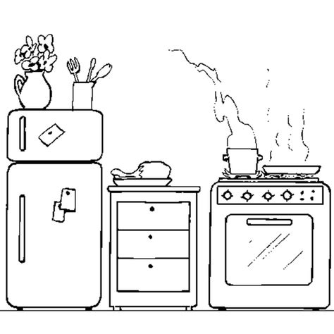 dessins de cuisine la cuisine coloriage la cuisine en ligne gratuit a
