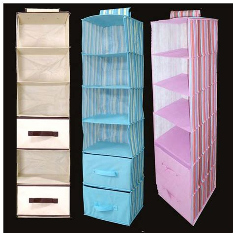 hanging closet organizers with 2 removable drawers 48 602