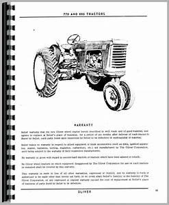 Oliver 880 Tractor Operators Manual