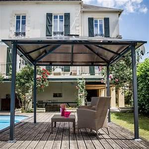 Tonnelle Terrasse : tonnelle autoportante aluminium 3x3 m anthracite 1 colis ~ Melissatoandfro.com Idées de Décoration